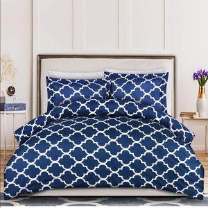 3 piece navy bed set
